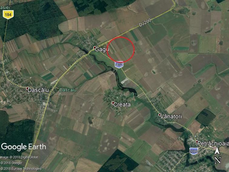 Land for sale: 49,200 sqm – Dascalu-Gagu