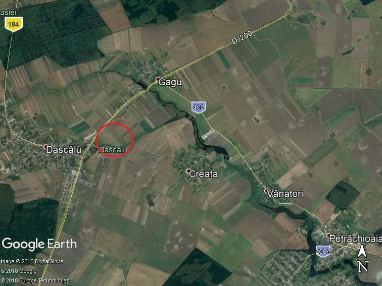 Land for sale: 66,800 sqm – Dascalu, Ilfov