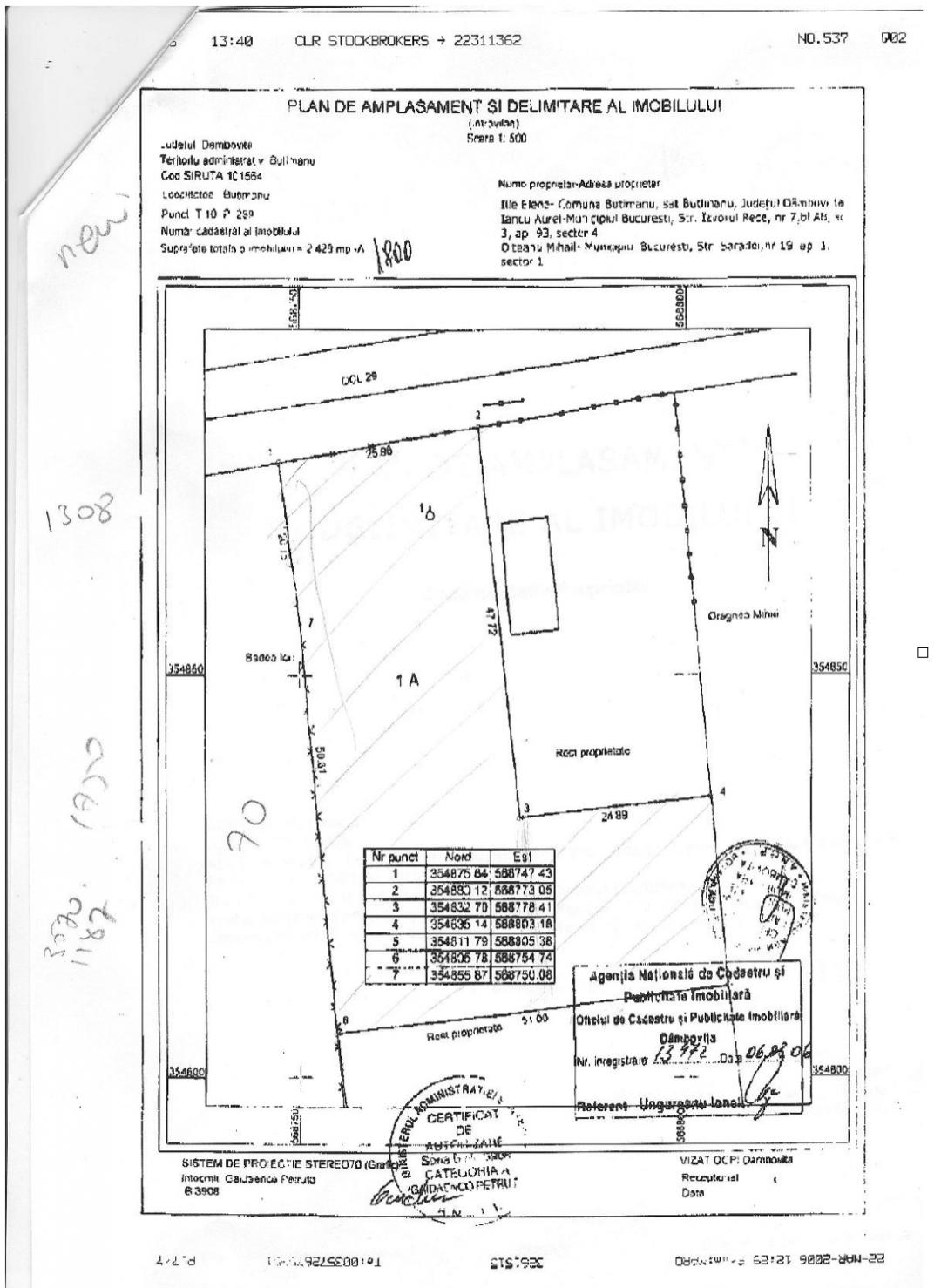 Land for sale: 2.428 sqm – Butimanu, Dambovita