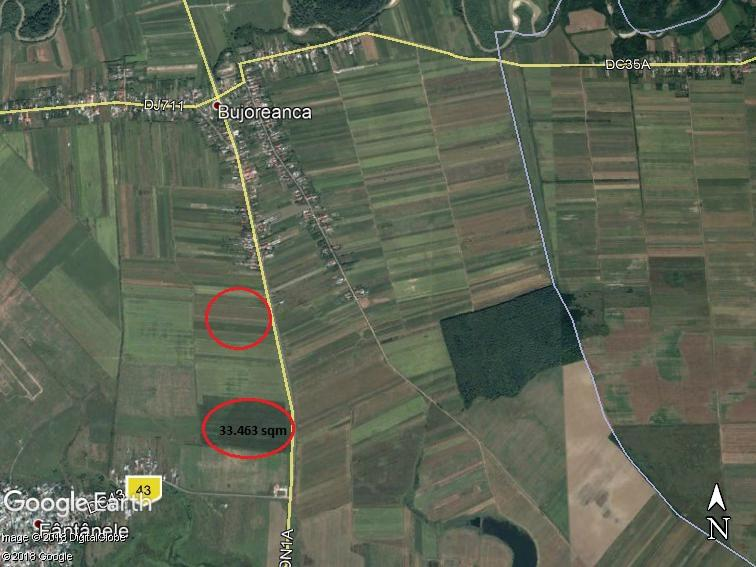 Land for sale: 35.463 sqm – Cornesti, Dambovita