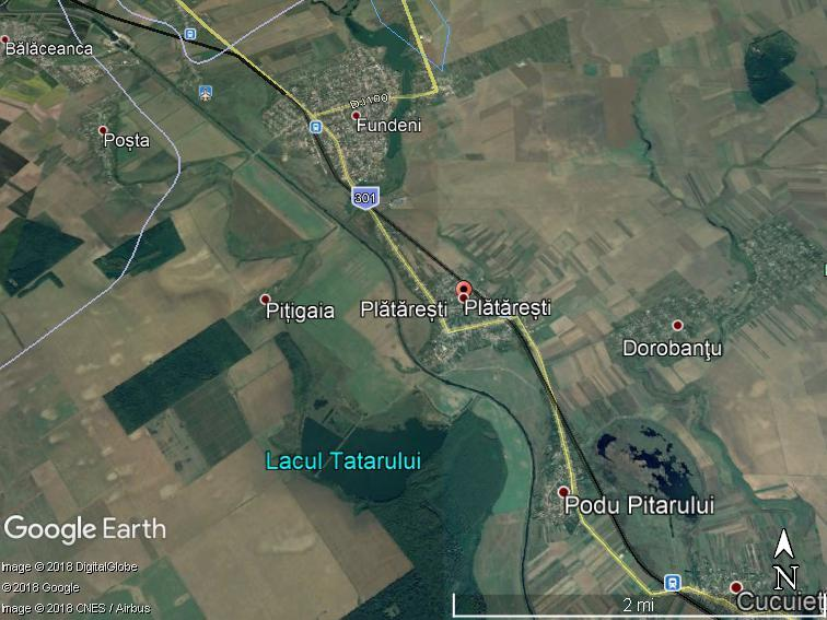 Land for sale: 163.700 sqm – Plataresti, Calarasi