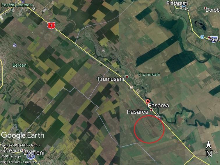 Land for sale: 43.574 sqm – Frumusani, Calarasi
